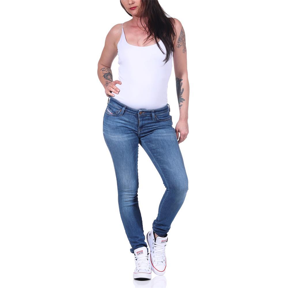 Indexbild 9 - Diesel SKINZEE-LOW-S Damen Jeans Denim Super Slim-Skinny Low Hose Jeanshose