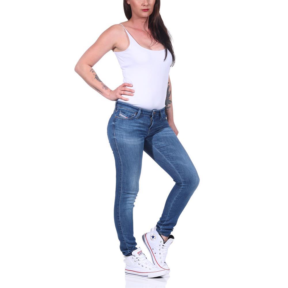Indexbild 10 - Diesel SKINZEE-LOW-S Damen Jeans Denim Super Slim-Skinny Low Hose Jeanshose
