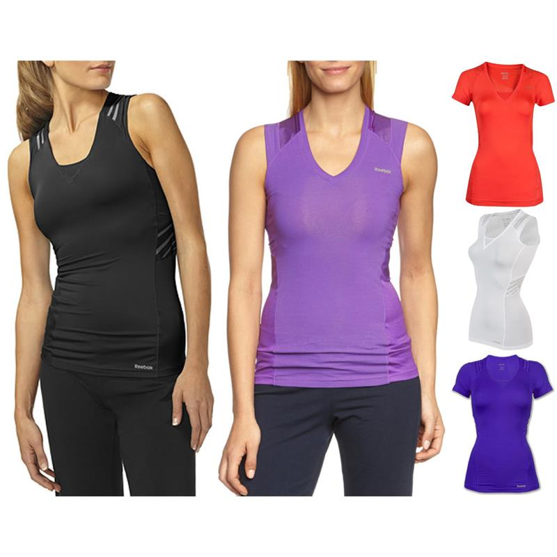 reebok easytone function shirt tank top fitness top bra ebay. Black Bedroom Furniture Sets. Home Design Ideas