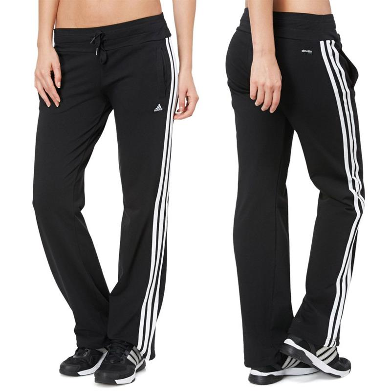 adidas ess 3s knit damen hose essentials sporthose jogginghose trainingshose ebay. Black Bedroom Furniture Sets. Home Design Ideas
